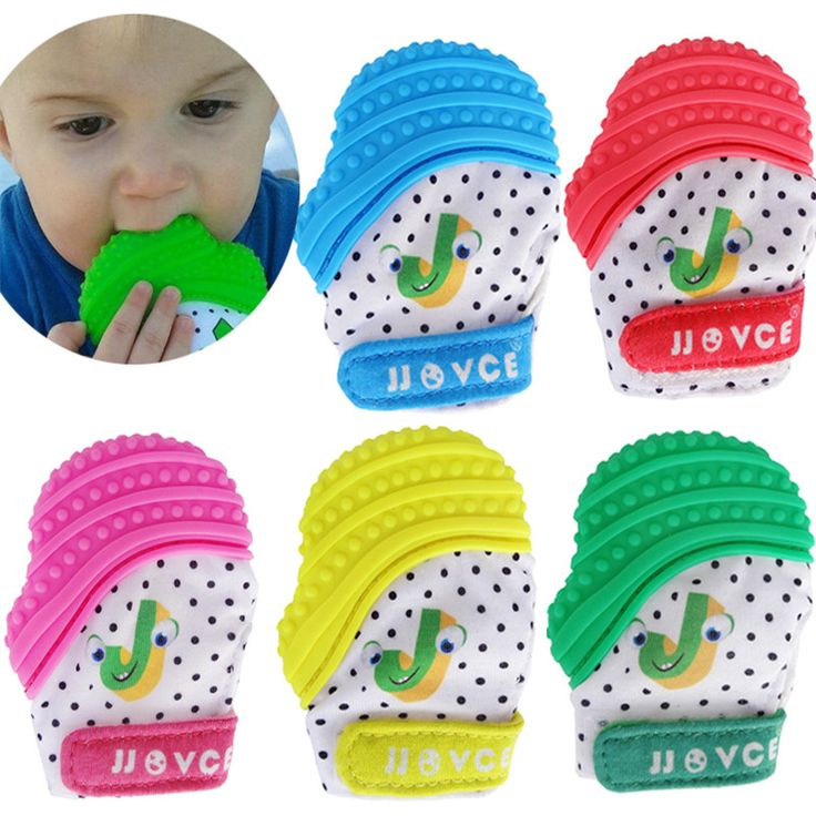 5 Color Silicone Teether Baby Pacifier Glove Baby Teething Chewable Newborn Nursing Mittens Teether Beads Infant BPA Free Pastel