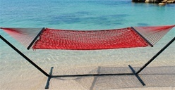 #Caribbean Rope #Hammock (Red) $84.99