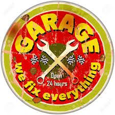 Image result for vintage car repair garage