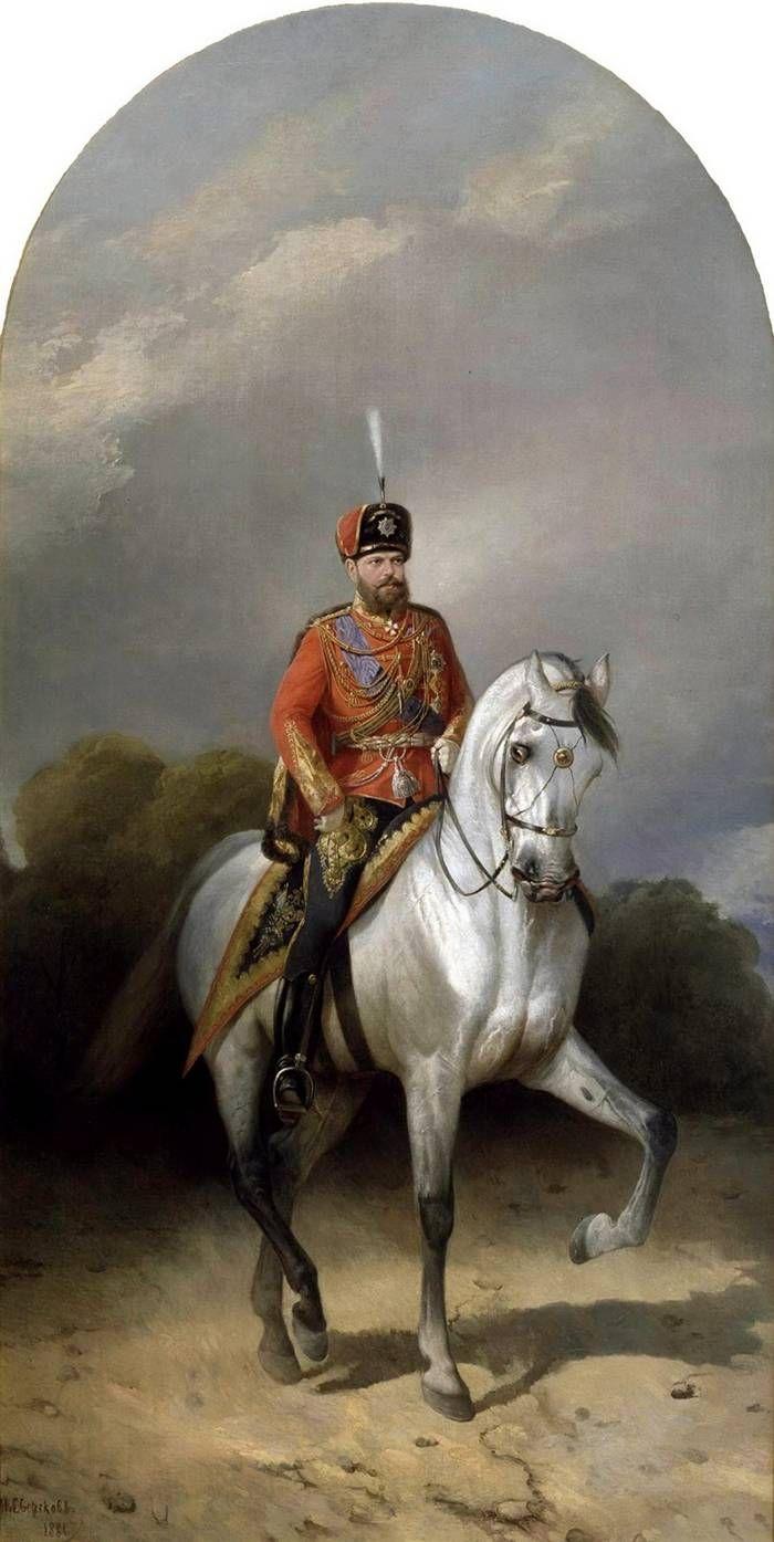 Фото полководца на коне