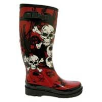 Stivali di Gomma da Donna con Disegno Teschi e Rose da Pioggia EU36-41 Nuovi   eBay