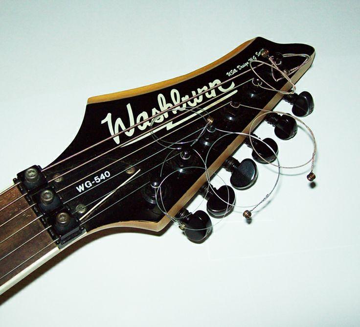 Braço da guitarra Washburn. Tipo da madeira Rosewood.