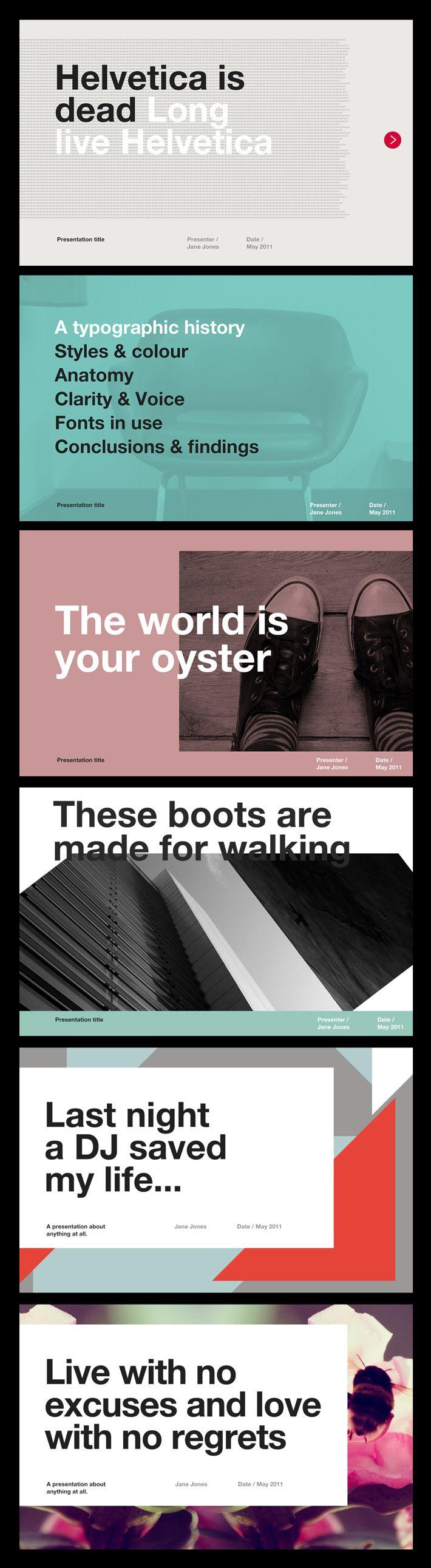 56 Best images about Presentation Design Inspiration on Pinterest ...