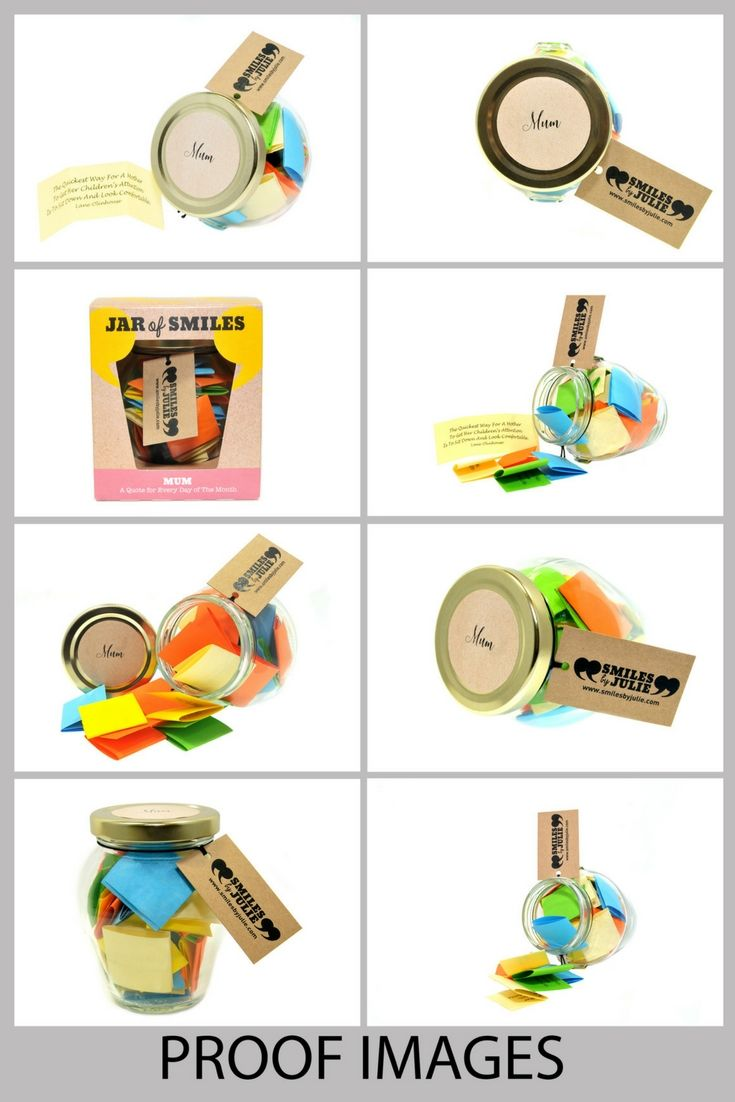 jar of smiles individually themed jars containing daily quotations
