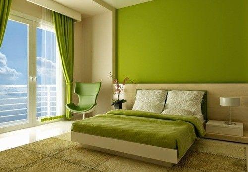 warna cat hijau dinding kamar tidur utama minimalis