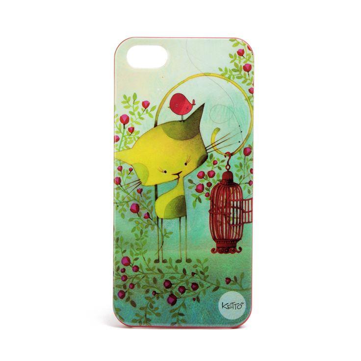 Pour protéger votre Iphone en beauté! // Coque à IPhone 5 Oiseau en Cavale KETTO IPhone 5 Case Bird on the Run // Coque à Iphone en plastique rigide. Pour Iphone 5 et 5S seulement. Non compatible avec les Iphone 5C. // Rigid plastic Iphone case. For Iphone 5 and 5S only. Not compatible with Iphone 5C. // #CoqueIPhone5 #IPhone5Case #Ketto