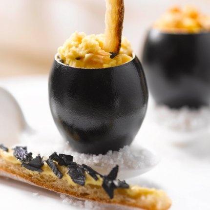 recette brouillade, brouillade à la truffe, recette maille, truffe maille, moutarde au chablis