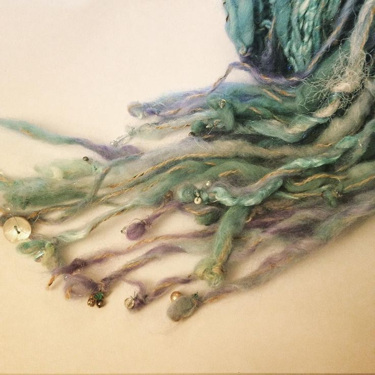 Shawl- the little mermaid #etsy #handspunyarn #mermaids