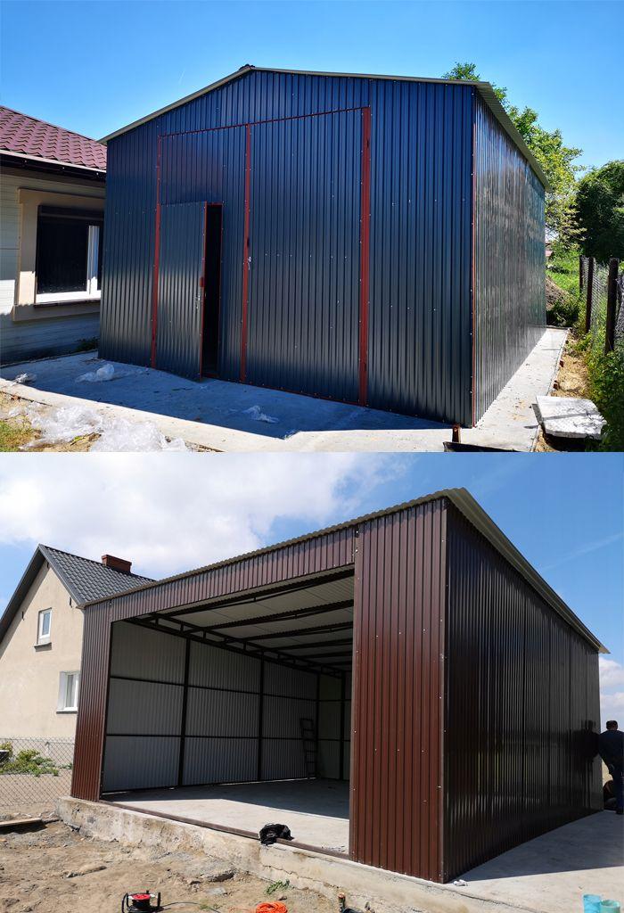 Garaz Indywidualny Na Samochod Osobowy Z Jednospadowym Lub Dwuspadowym Dachem Building Design Garage House Architecture