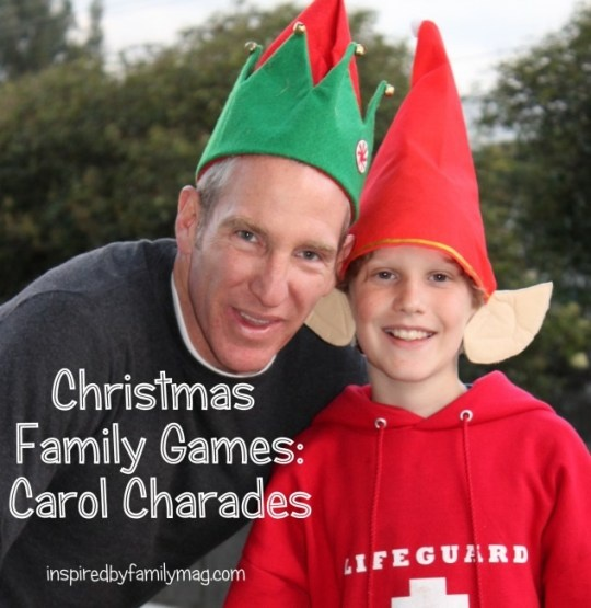 Christmas Family Games #2- Christmas Carol Charades with a Twist -Pinner said:  last time we played this my cheeks hurt from all the laughing