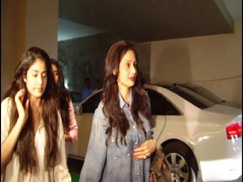 Sridevi with her daughters at the special screening of FUGLY.
