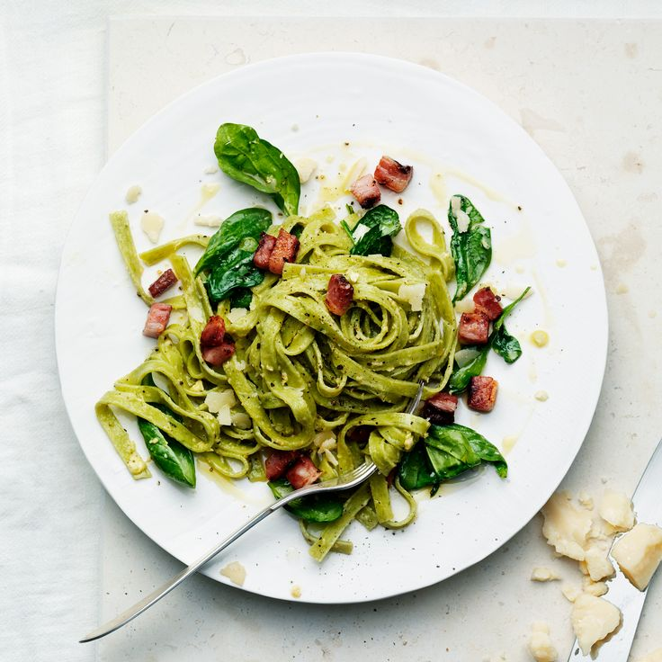 """This epitomizes the beauty of few-ingredient cooking,"" says Claire Robinson. Indeed, she freshens up the classic, rich pasta by simply adding a few h..."