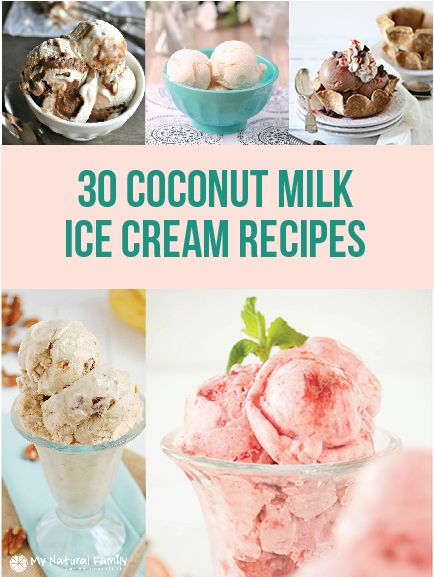 There are SO many different flavors of ice cream that you can make. In my list I have included a variety of coconut milk ice cream recipes.