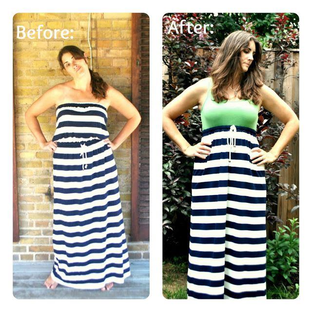 Boy, Oh Boy, Oh Boy!: Strapless Maxi Dress Refashion Tutorial