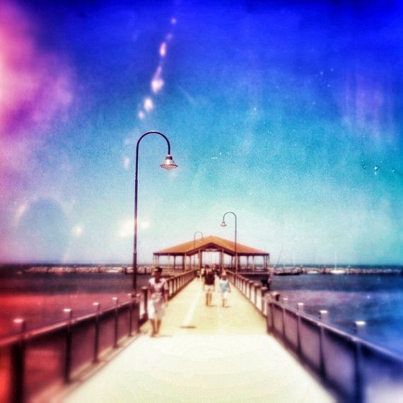 We love this! Redcliffe Jetty Photo Pier 5 x 5 by HeyHarriet