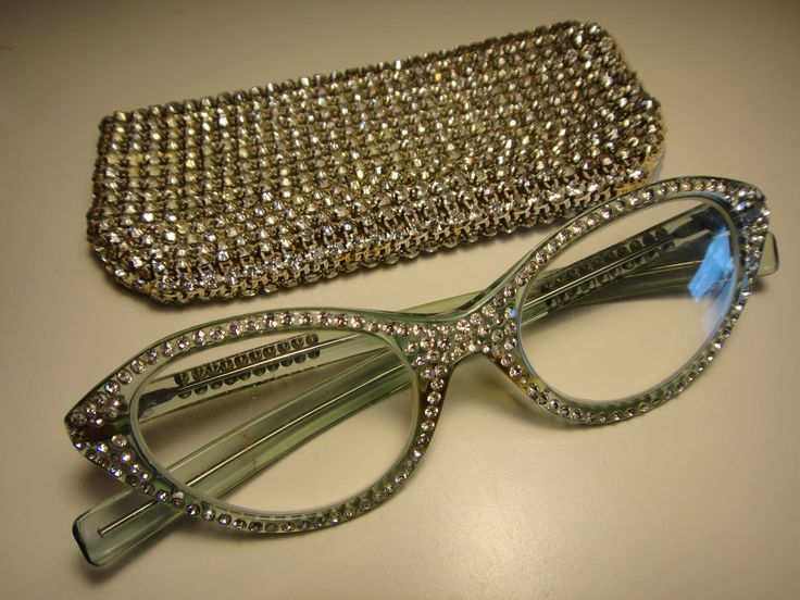 Designer Eyeglass Frames Bling : 325 best images about Vintage Eyewear 1950 on Pinterest ...