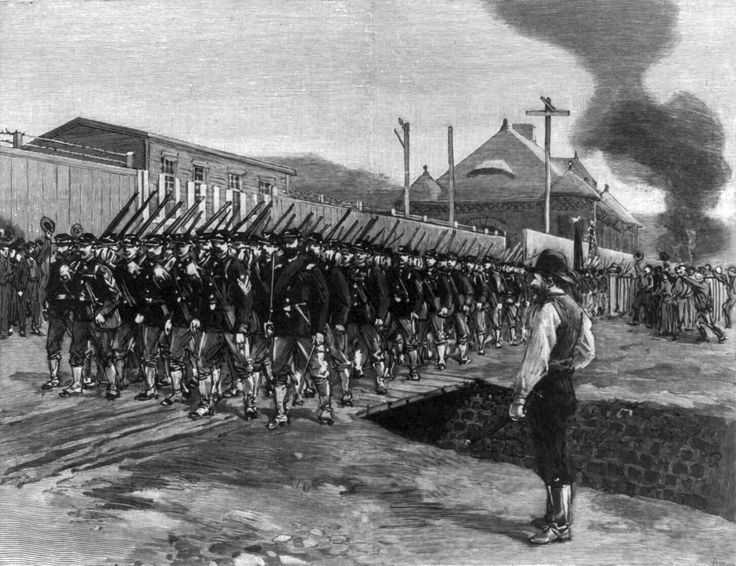 Strike supported by the American Federation of Labor; the strike ended when the Governor of Pennsylvania sent in the state militia to end the strike and arrest the leaders.