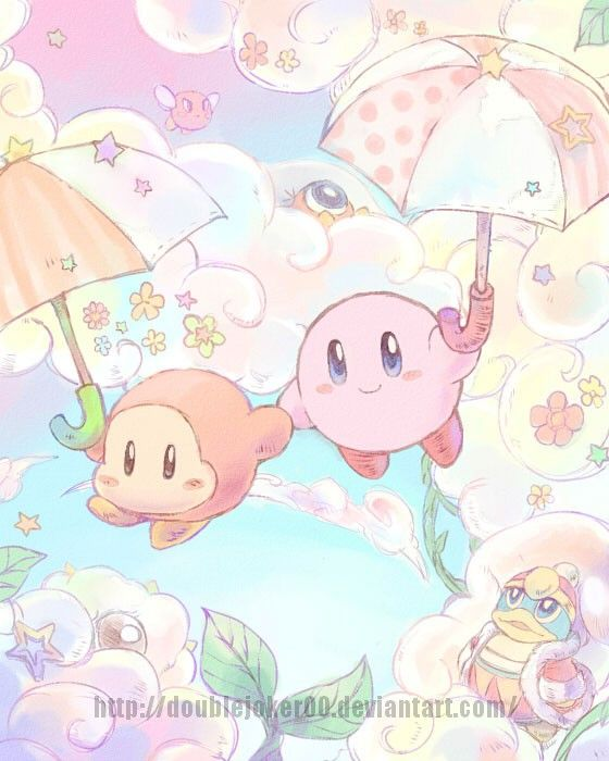 Parasol Waddle Dee and Kirby