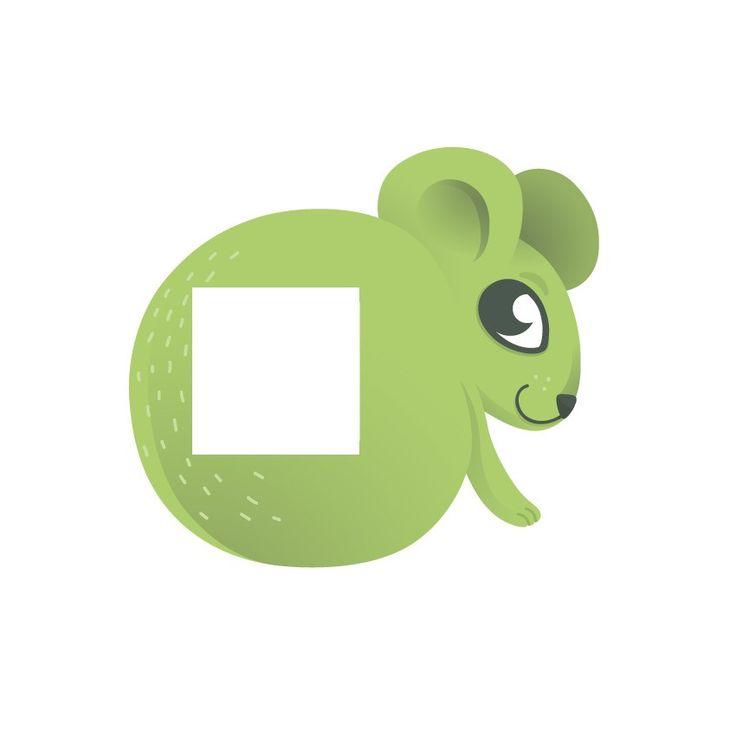 Sticker Enfant Pour Prise Ou Interrupteur Souris Verte Design Fils Et Stickers