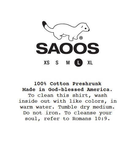 To cleanse your soul, refer to Romans 10:9. SAOOS - Christian Shirts