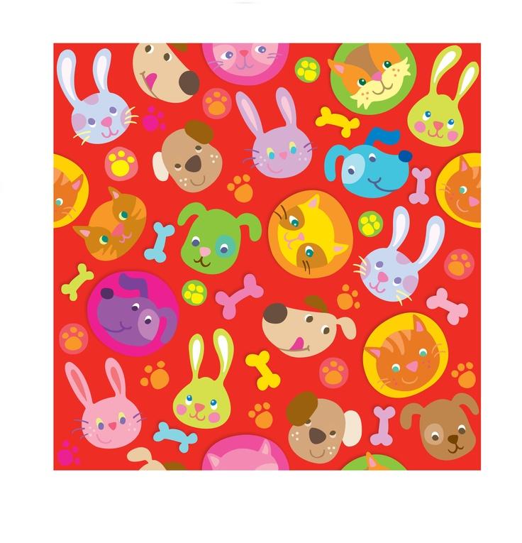 happy pet pattern/Jill Howarth illustration