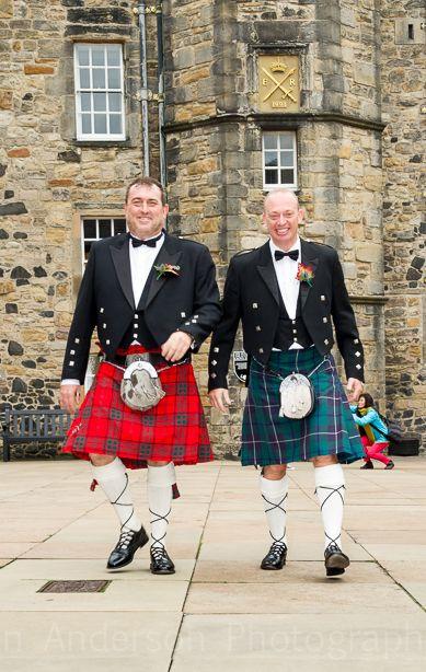 Groom and Best man at Edinburgh Castle Wedding.gavinandersonphotography.co.uk/wedding-archive/alisaandcraig/content/DSC_1420_large.html
