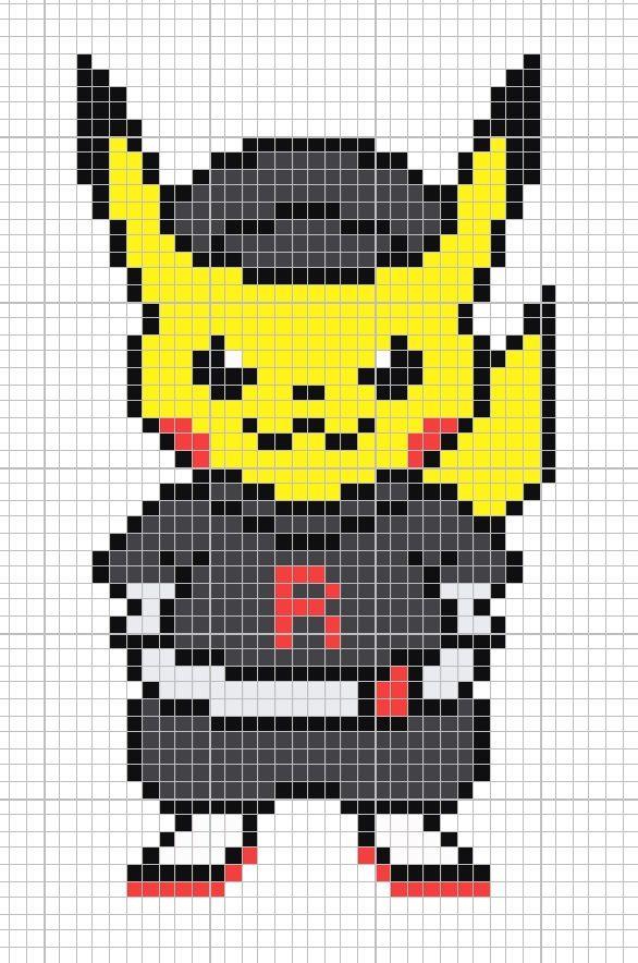 Pikachu equipo rocket Pixel