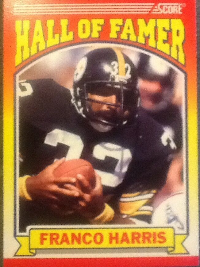 1990 Score Hall Of Fame # 595 Franco Harris Pittsburgh Steelers  #PittsburghSteelers