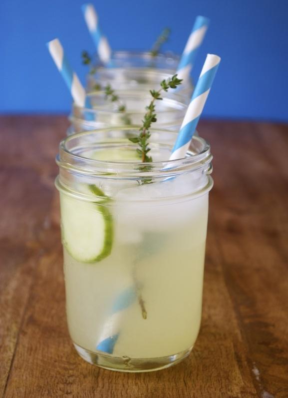 Thyme lemonade...sounds real good!  More of the recipe here: http://mamasgottabake.wordpress.com/2012/05/07/thyme-lemonade/