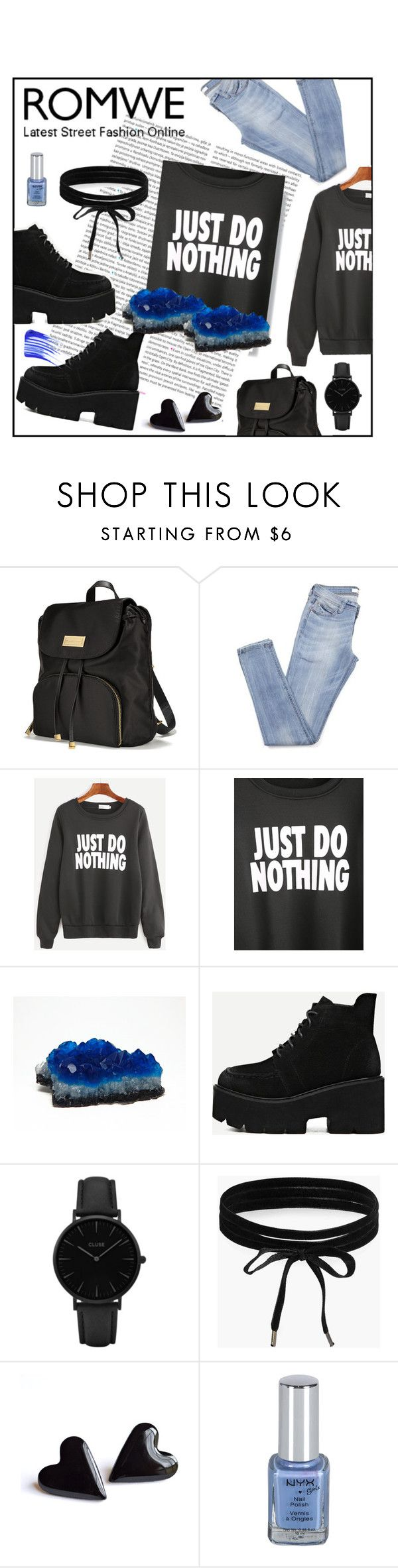 """Black Slogan Print Long Sleeve Sweatshirt"" by sandraa-jwoww ❤ liked on Polyvore featuring Victoria's Secret, Oris, CLUSE, Boohoo and Tom Ford"