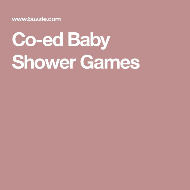 co ed baby shower games that men will love too babies baby shower