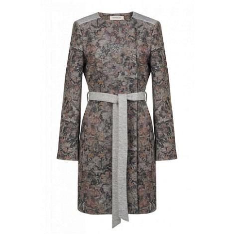 Manteau femme mi long imprimé fleurs - Naf Naf