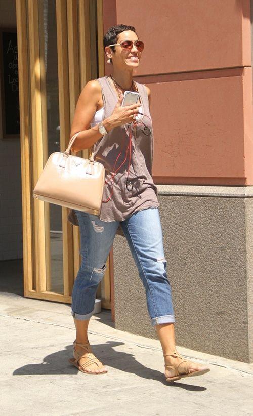 Nicole Murphy strolls around L.A.