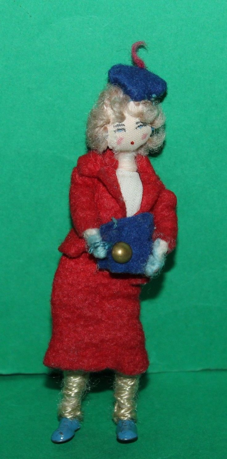 Vintage Dolls House Grecon Lady With Handbag KM0036   eBay