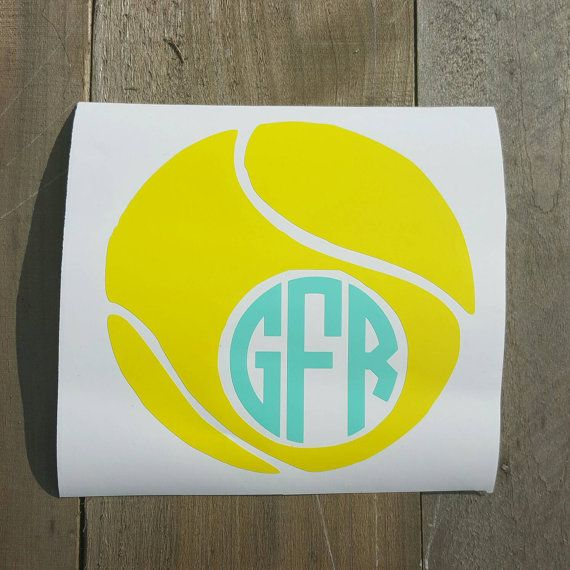 Check out this item in my Etsy shop https://www.etsy.com/listing/251923758/tennis-ball-monogrammed-decal