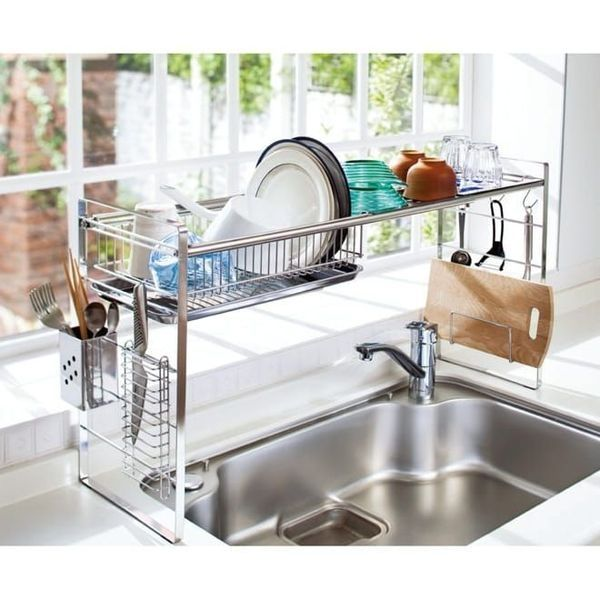 51 Small Kitchen Design Ideas That Make The Most Of A Tiny: 40 Perfect Minimalist Dish Rack For Your Small Kitchen