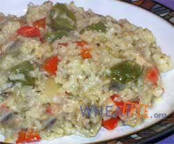 Wheat & gluten free mushroom risotto recipe, a rich, creamy Italian style vegetarian & vegan risotto recipe
