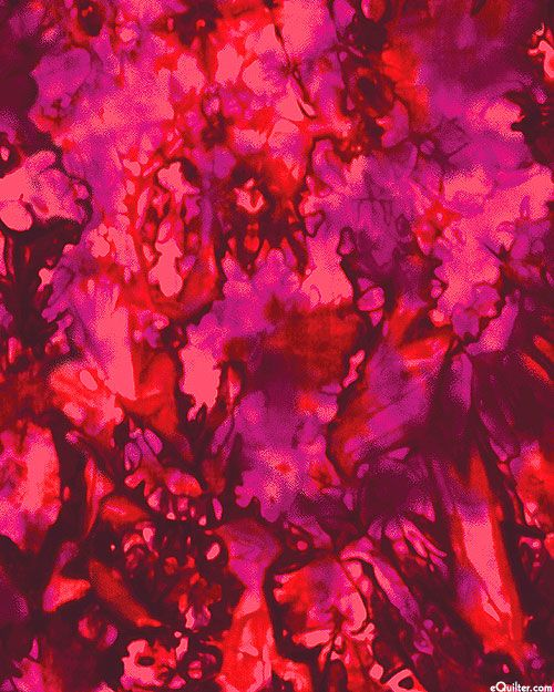 Color Flow - Marbled Paint - Ruby Fire