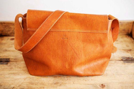 SATCHEL Leather Bag // Big Leather handbag // Brown by KURTIK