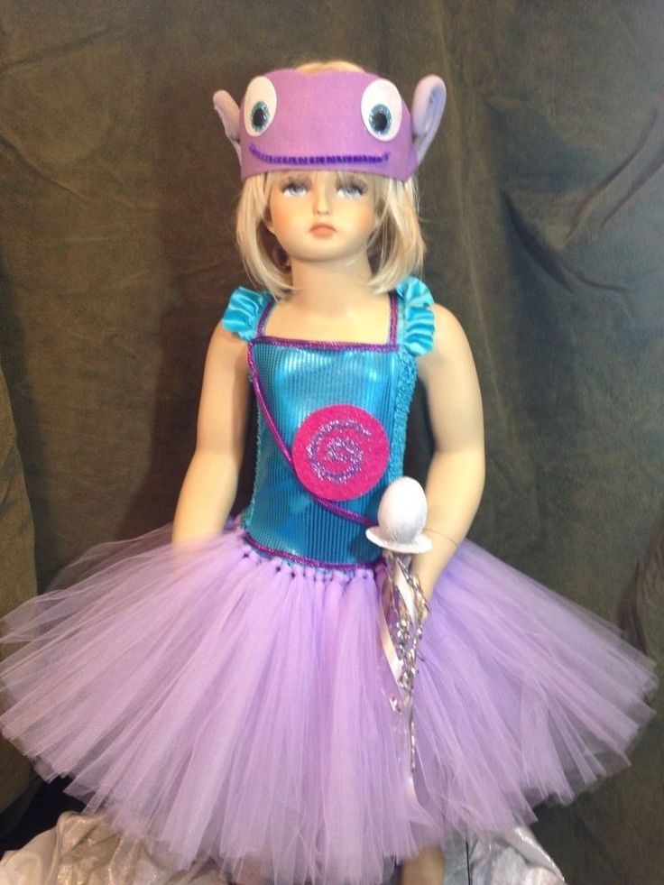 """Boov costume tutu dress Halloween party home movie """"OH inspired"""" sizes 2T-Age 6  #PjsDreams"""