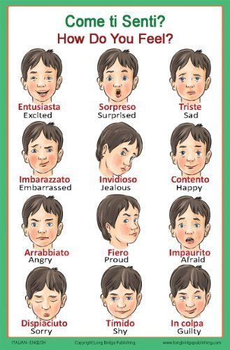 Learn#Italian#Feelings#Vocabulary#Words#lessons#language4life#
