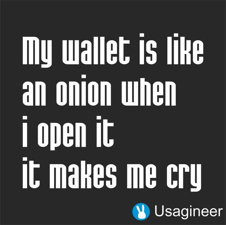 MY WALLET IS LIKE AN ONION WHEN I OPEN IT IT MAKES ME CRY QUOTE VINYL DECAL STICKER