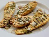 Grillezett Cukkini Feta sajttal, Vinegrette szósszal