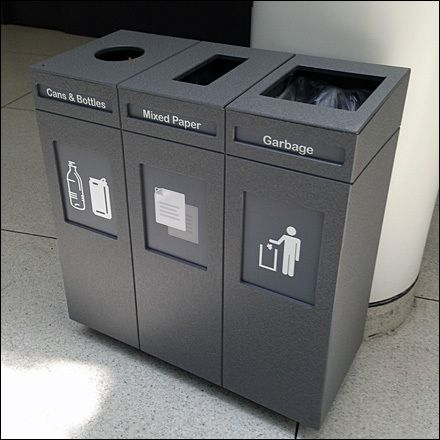 Cubist Recycling Bins By Three Main
