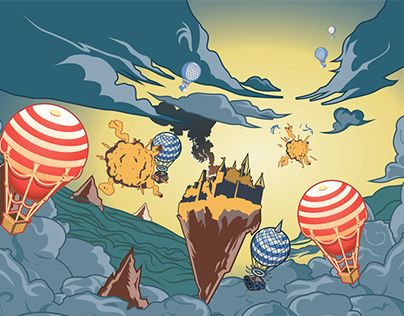 """Check out new work on my @Behance portfolio: """"Rocking Castle!"""" http://on.be.net/1PuDYxd"""