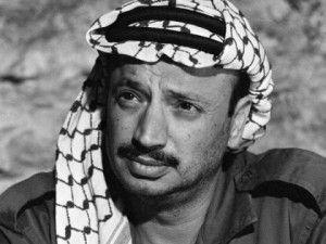 Yasser Arafat, leader of the Palestine Liberation Organization