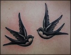 I have a t-shirt design based on this traditional swallow tattoo.