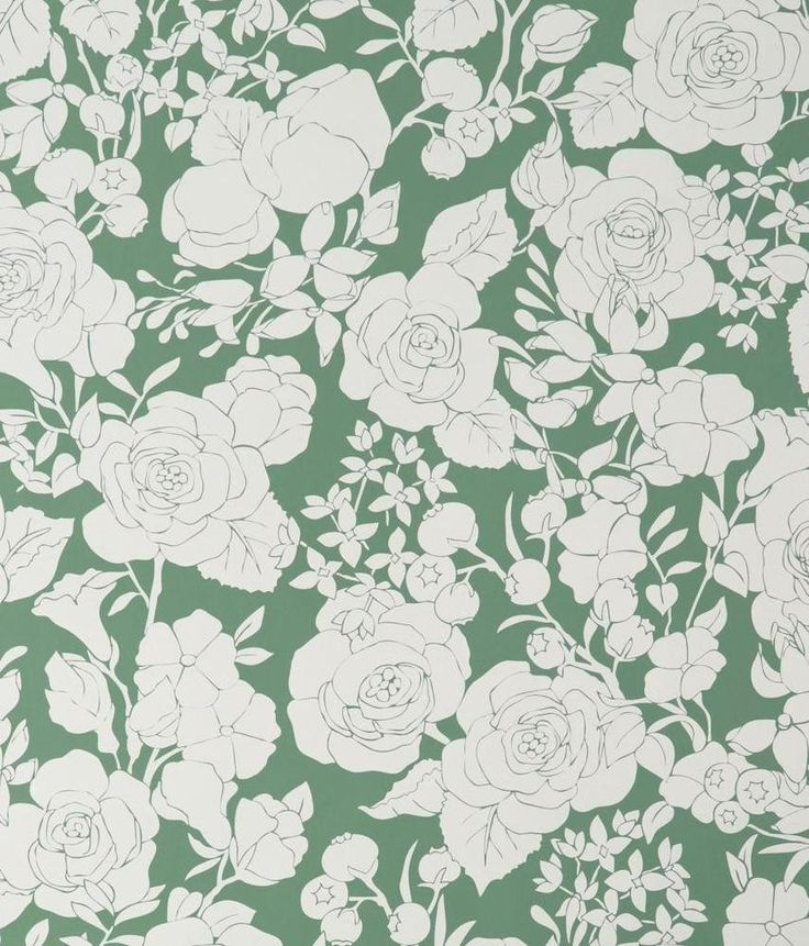 Karla Pruitt for Hygge & West Garden in Green Wallpaper
