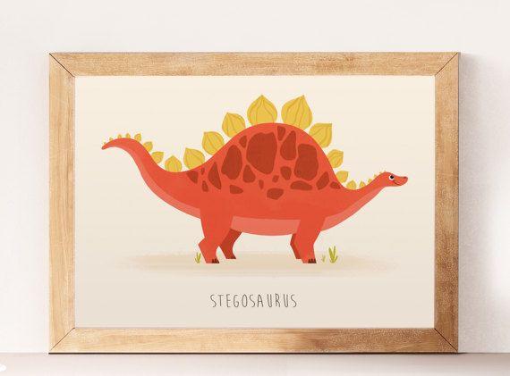 Dinosaurs Cute dinosaurs Nursery dinosaur Stegosaurus by NorseKids