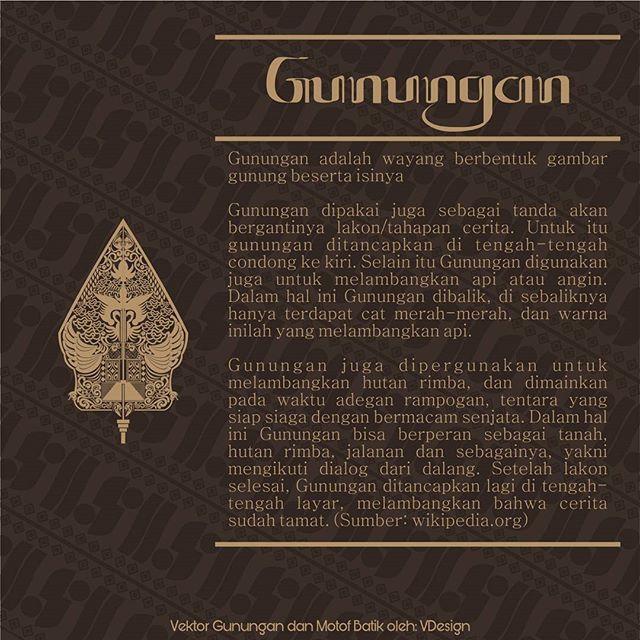 Gunugan . . . . . . . . #wayang #motif #batik #design #illustration #inspiration #infographic #indonesia #java